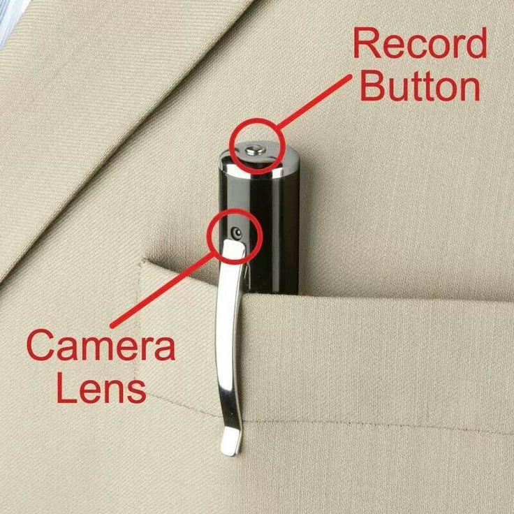 Spy cam pen.