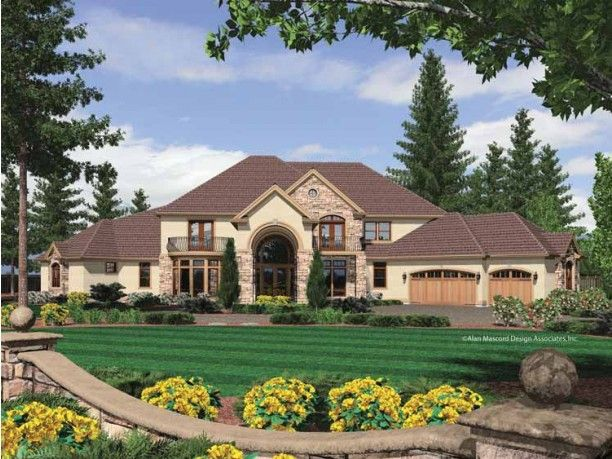 New American House Plan with 6497 Square Feet and 5 Bedrooms(s) from Dream Home Source | House Plan Code DHSW65853