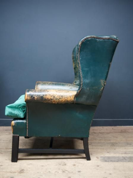 Antique Green leather
