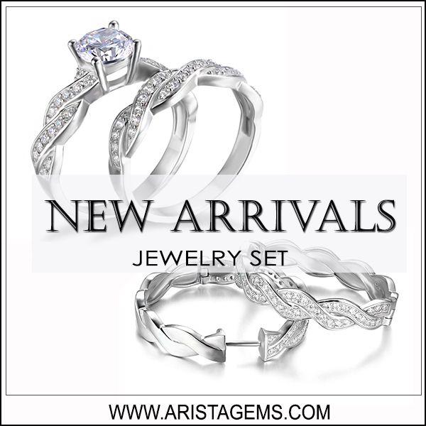 Luxury Infinity Engagement Wedding Jewelry Set