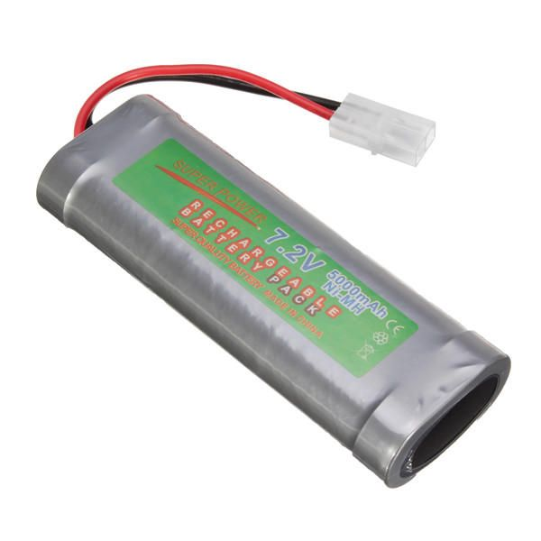 7 2v 5000mah Ni Mh Rechargeable Battery Pack For Toy Vehicle Boat Airplane