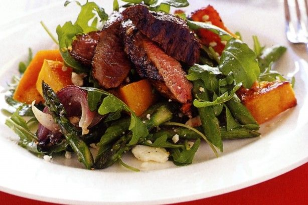 Fire up the barbecue for this easy but flavoursome warm balsamic lamb salad.