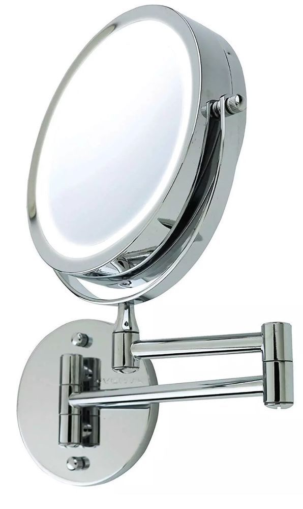 Ovente 7 Inch Wall Mount Led Lighted Makeup Mirror Battery Operated 1x 10x Makeup Mirror With Lights Mirror Makeup Mirror