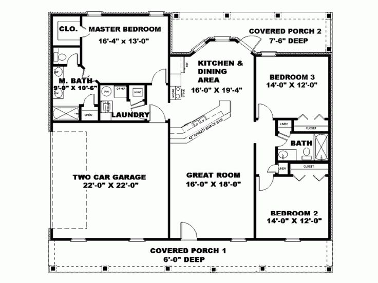 Nice Floor Plan 1500 Square Foot Country House Plans Ohio