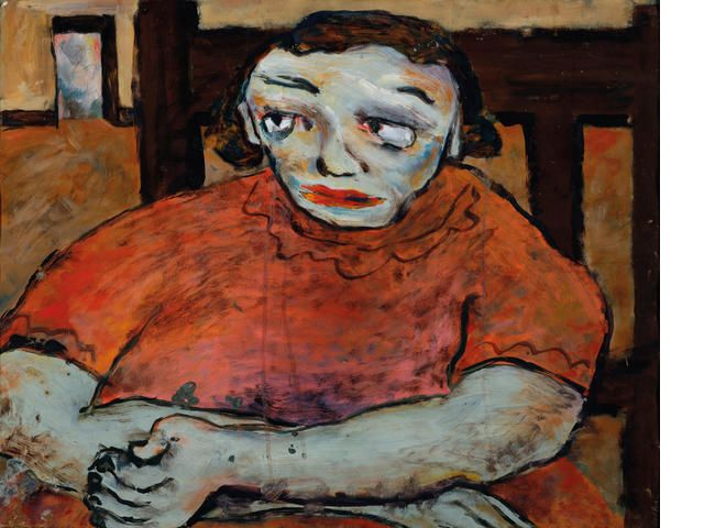 Joy Hester (1920-1960) Mad girl c.1942-43