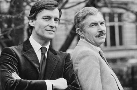 Jeremy Brett (Sherlock Holmes) and David Burke (Dr. John Watson)