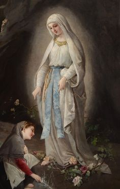 Domenico Tojetti - At Sacred Spring (1877) NUESTRA SEÑORA DE LOURDES Año: 1858 Lugar: Lourdes (Francia) Fiesta: 11 de febrero Vidente: Bernadette Soubirous