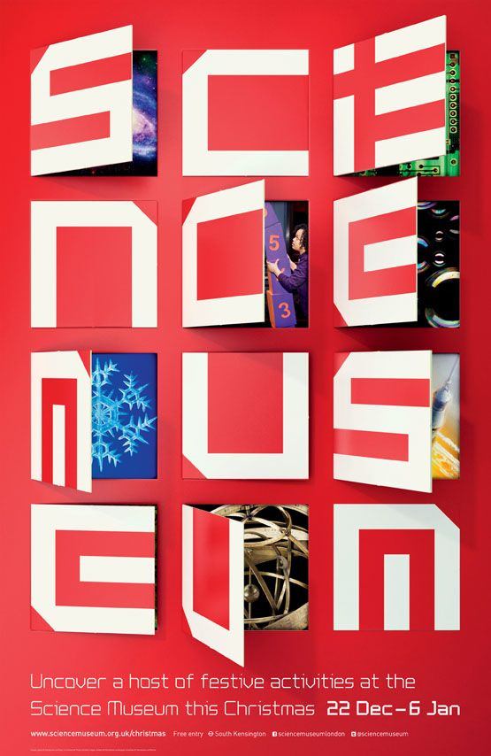 Have yourself a Science Museum Xmas | johnson banks | advent calendar-style brochure and card