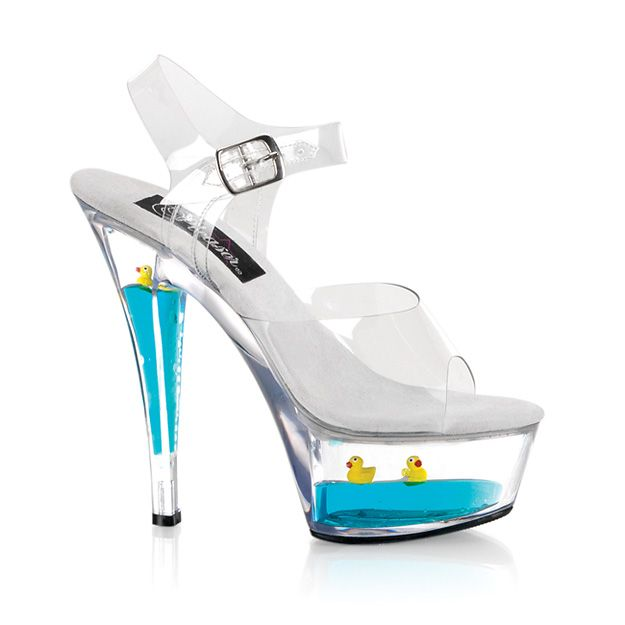 f86ff8867568 Specialty Shoes - Liquid Infused (Pleaser USA)  Kiss 208 9 (clear floating  Ducks).