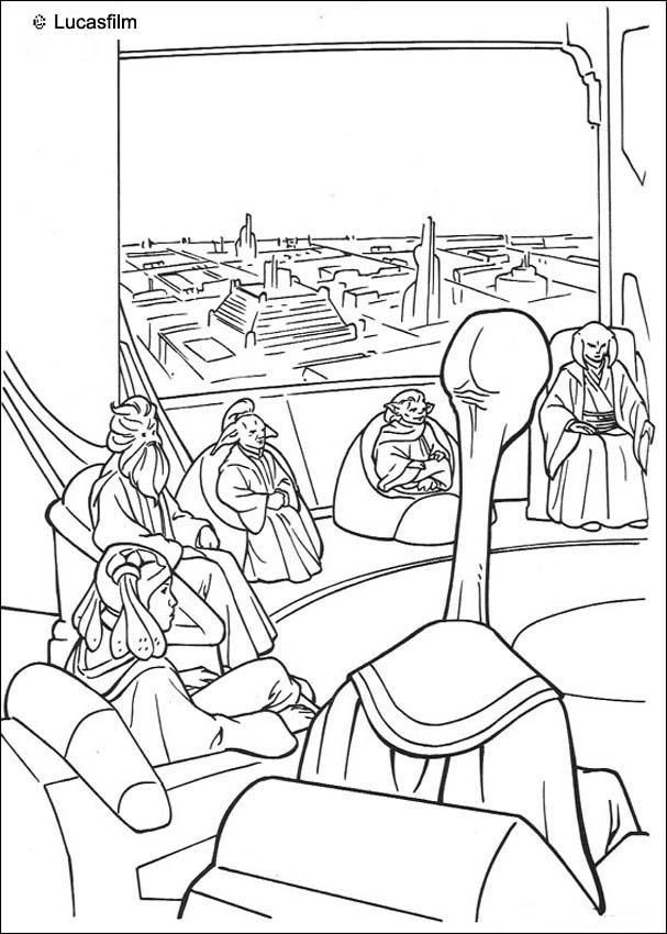 82 best Coloriages Star Wars images on Pinterest  Colouring pages