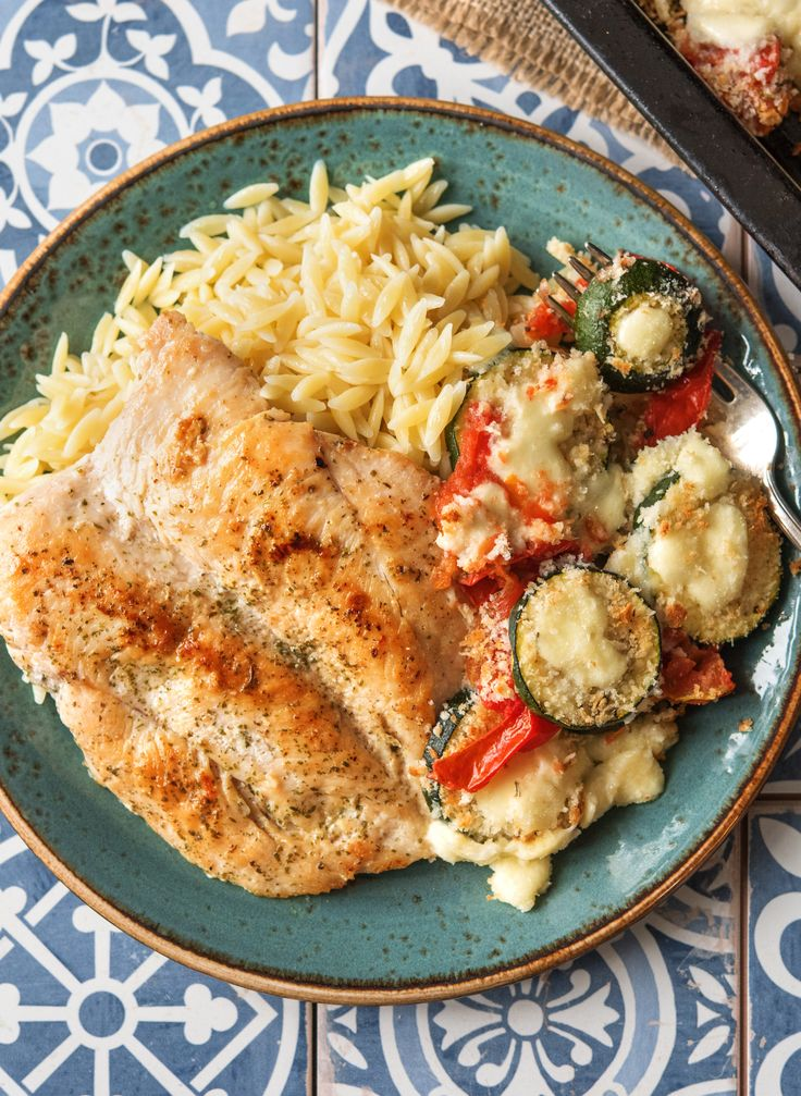 "Easy chicken recipe with cheesey roasted vegetables | Try HelloFresh today with code ""HelloPinterest"" and receive $25 off your first  box."