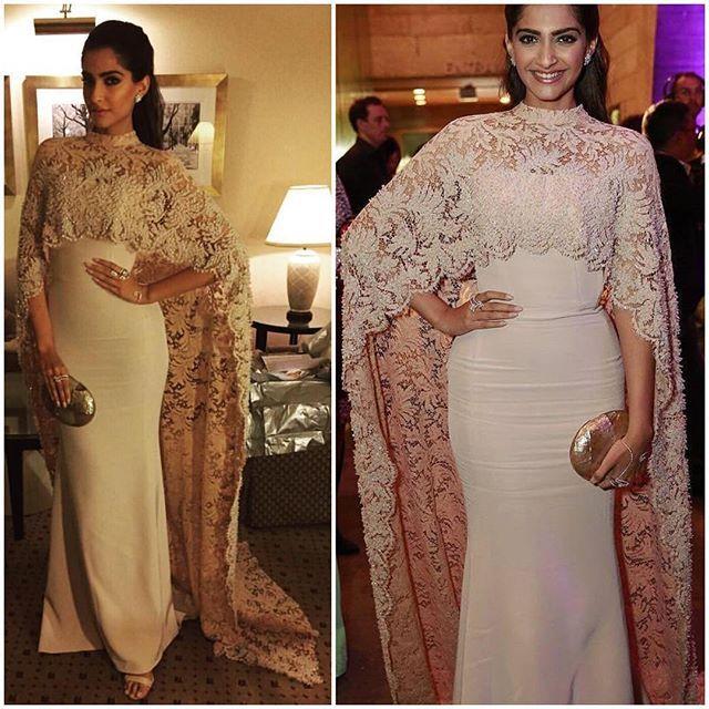 2015 Sexy árabe recién llegado de la sirena cuello alto de encaje satinado con chaqueta de encaje de noche vestidos de baile vestido Real hermosa con encanto
