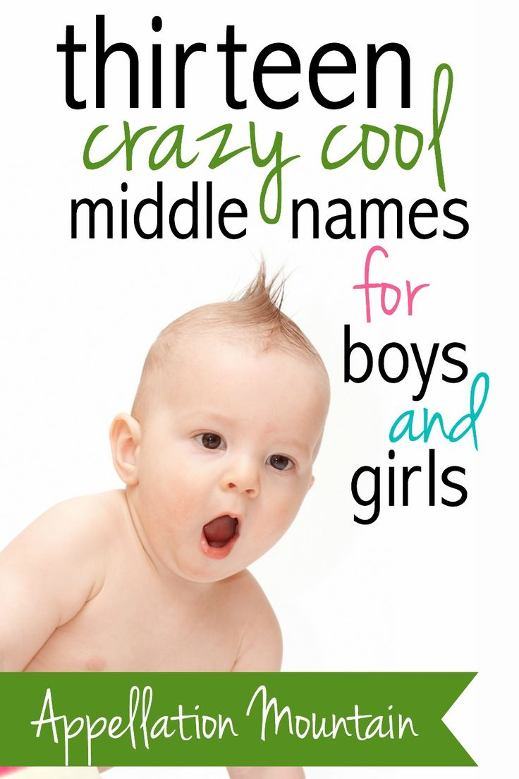Looking for bold middle names? Try Quest instead of Grace, Hyperion instead of James. More ideas for surprising middle names that work for a son or a daughter here.