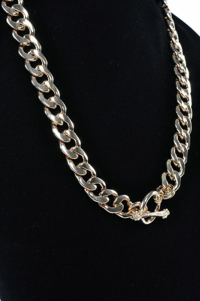 cool Cuban Link Chain Gold Plated Bling Necklace Fashion Hip Hop Womens Jewelry   Check more at http://harmonisproduction.com/cuban-link-chain-gold-plated-bling-necklace-fashion-hip-hop-womens-jewelry/
