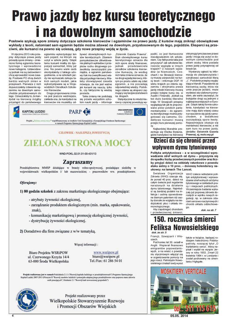 Gazeta mazowiecka 05-05-2014 str 6.