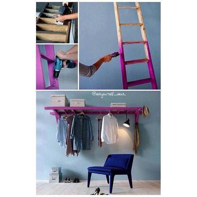Inspiration für eine DIY Kleiderstange :)
