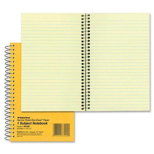 National Brand Brown Board Cover Notebook, Narrow, 1-Subject, Green Paper, 7.75 x 5 Inches, 80 Sheets (33002) National http://www.amazon.com/dp/B0013CKLCQ/ref=cm_sw_r_pi_dp_J2jAvb14XC5QG