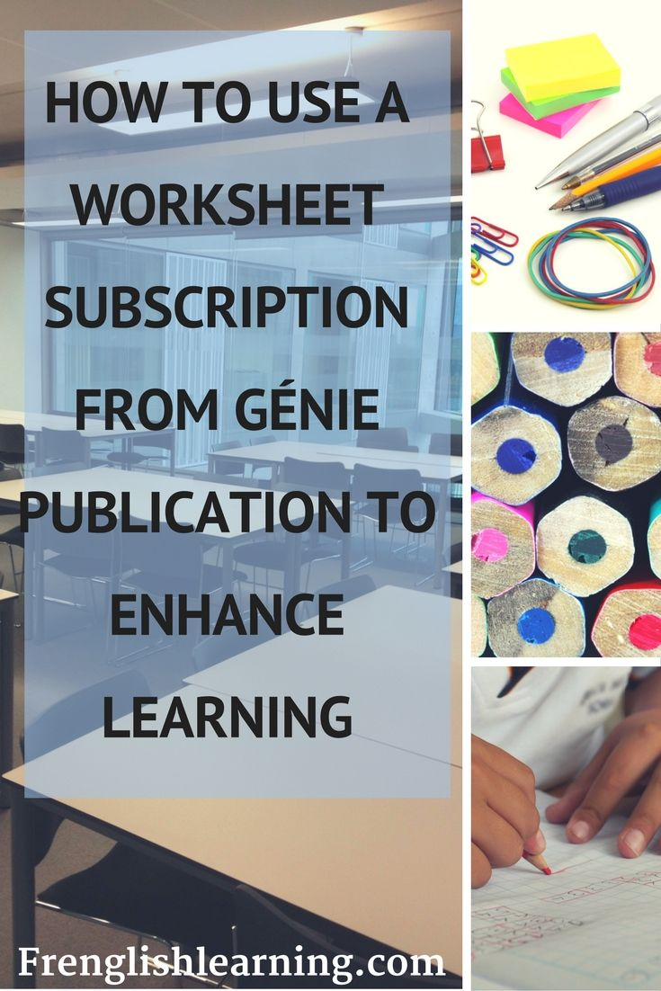 Génie Publication's worksheet subscription allows unlimited downloads for one year