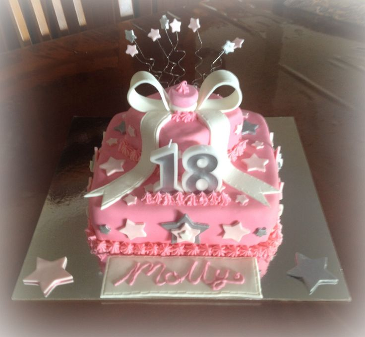 18th birthday cake Pretty pink! Chocolate with chocolate ganache