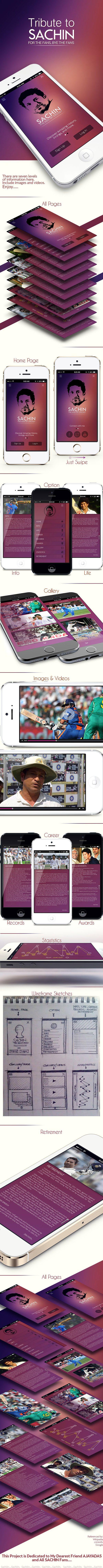SACHIN THE GOD OF CRICKET mobile app on Behance