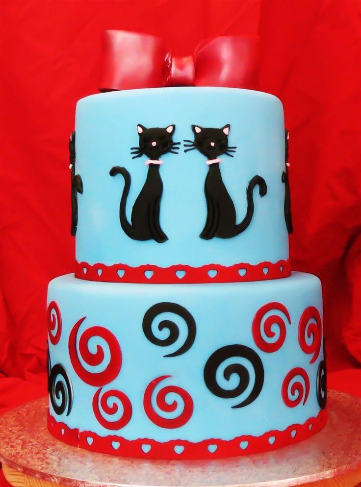 Anniversary Cakes - Cat cake