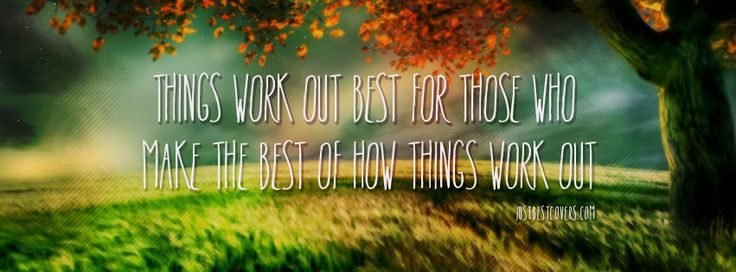 Things Work Out Best Facebook Cover Photo JUSTBESTCOVERS