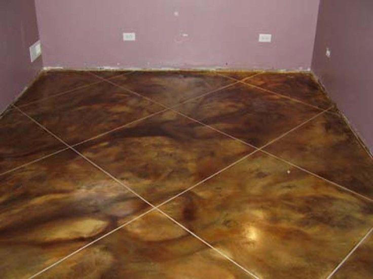Stamped Concrete Basement Floor : Best images about basement flooring on pinterest