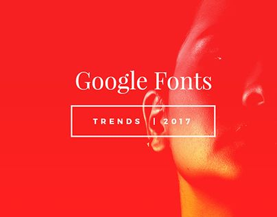 """Check out new work on my @Behance portfolio: """"2017 Trends - Google Fonts Combinations"""" http://be.net/gallery/51324315/2017-Trends-Google-Fonts-Combinations"""