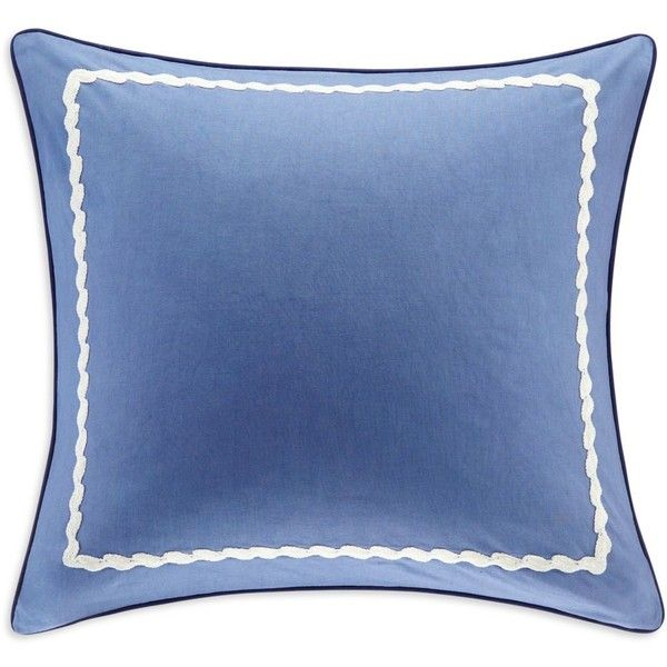 Echo Woodstock Euro Sham ($40) ❤ liked on Polyvore featuring home, bed & bath, bedding, bed accessories, blue, rustic bedding, blue euro sham, echo bedding and blue bedding