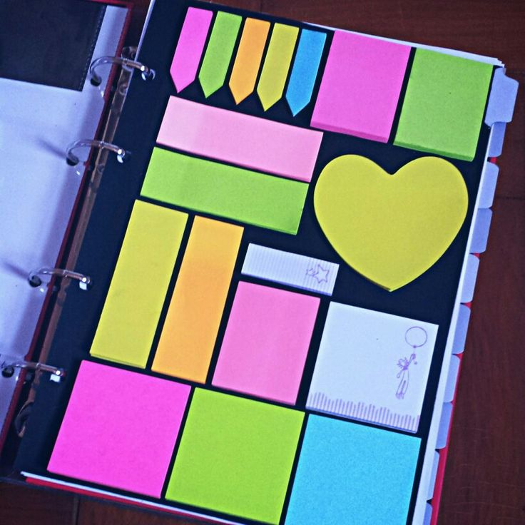 Back to School DIY ♡ // Volta às aulas. Divisória de fichario com post it