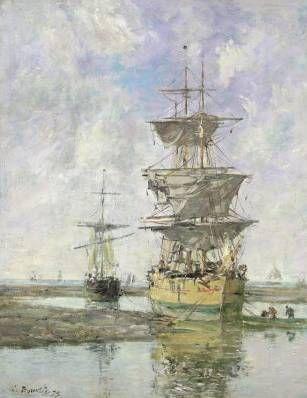 Large Ship - Eugene Boudin