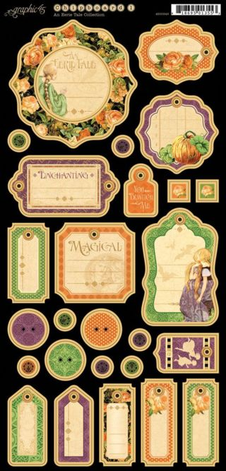 Chipboard Tags 1 from our new collection An Eerie Tale! In stores in late May #graphic45
