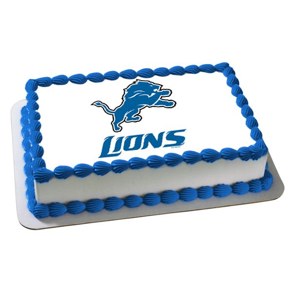 NFL Detroit Lions Edible Image Cake Decoration FREE Shipping Offer