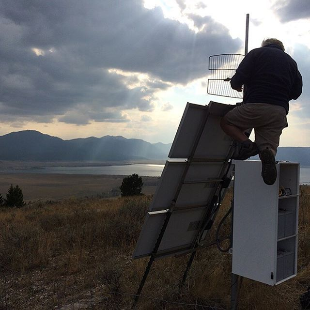 UNAVCO Field Engineer Tom Lyman dials in a new radio link at P676, just west of Yellowstone. (Photo/Tim Dittman, UNAVCO). Collecting continuous GNSS data requires enormous investments in planning, hardware, and physical effort. Getting those data back to a central repository for distribution as quickly and reliably as possible presents even more challenges. Strategies range from cellular modems to satellite communications, and from local internet providers to multipoint radio networks…