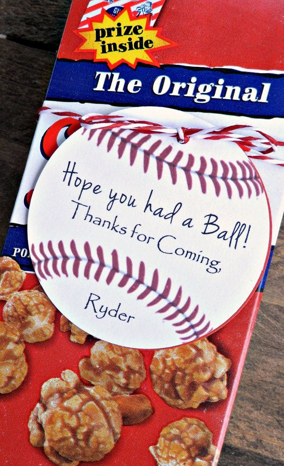 Unique Custom Baseball Birthday Party Favors- Hope You Had a Ball