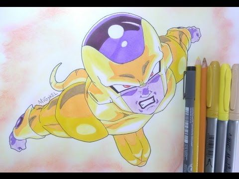 Como dibujar a Golden Freezer.How to draw Golden Frieza. Drawing Golden ...