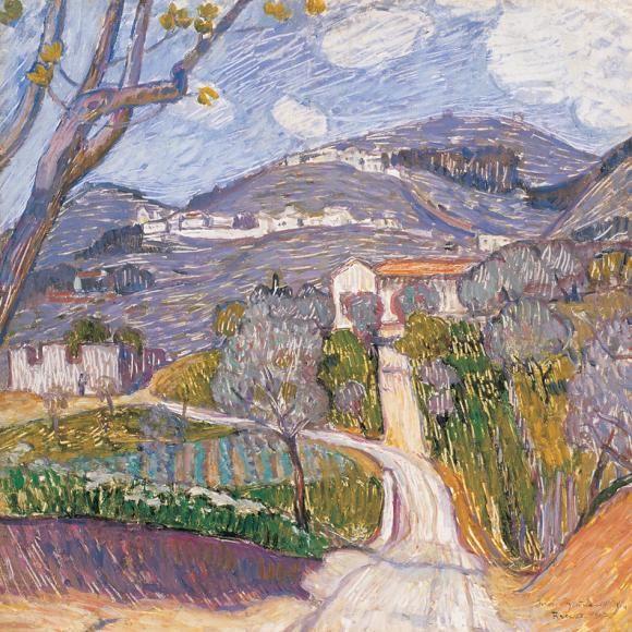 Spring Landscape in Florence, 1907, Iványi Grünwald Béla. Hungarian (1867 - 1940)