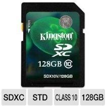 Kingston Digital 128 GB Secure Digital Memory Card (SDX10V/128GB) #128GB #SDXC