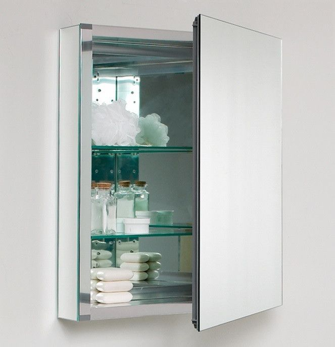 Not only does the Tona bathroom medicine cabinet looks good, but it's also functional. The Tona medicine cabinet has adjustable tempered glass shelves inside. M