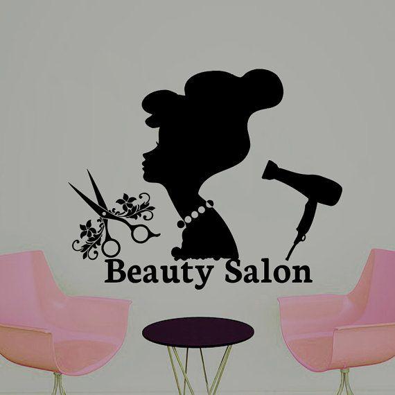 Wall Decal Beauty Salon Hair Salon Fashion Girl Woman Haircut Hairdressing Barbershop Decals Vinyl Sticker Wall Decor Art Mural MN470
