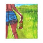 Woman with Bottle of Whiskey Notepad #Texas