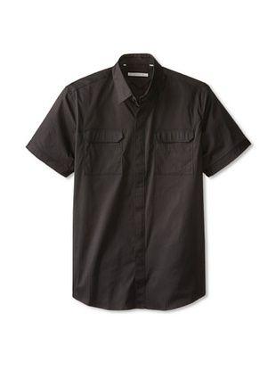 55% OFF 7 Diamonds Men's Invisible Sun Short Sleeve Shirt (Black)