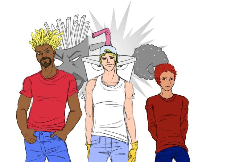 25 Non-Human Cartoon Characters As Humans Will Blow Your Mind - Aqua Teen Hunger Force
