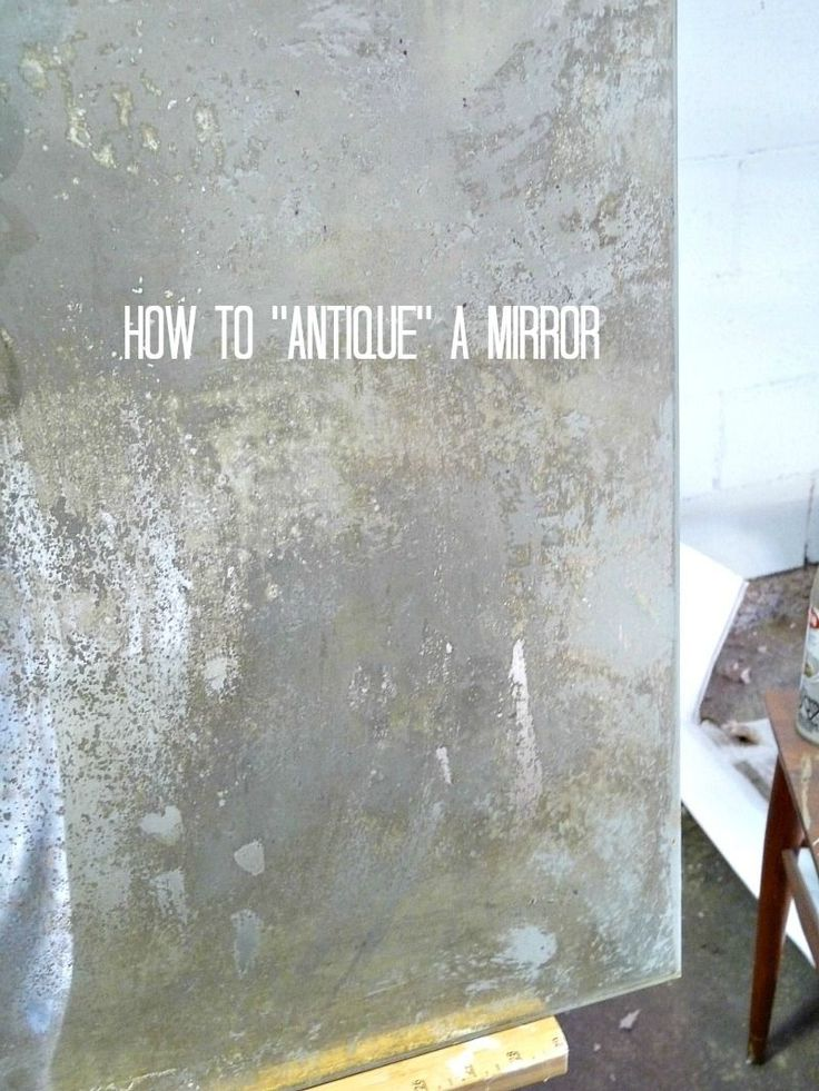 how to antique a new mirror