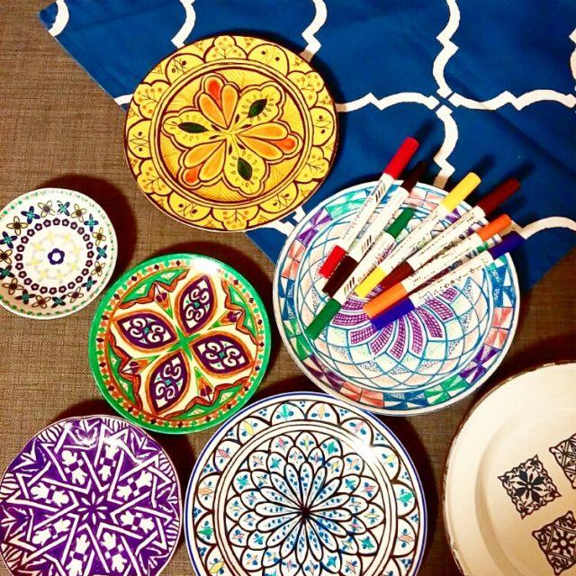 nikoayameさんの、らくやきマーカー,ステンシル,モロッコ,のお部屋写真