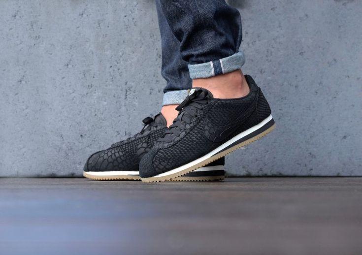Nike Classic cortez leather premium Black/Gum - 861677-002