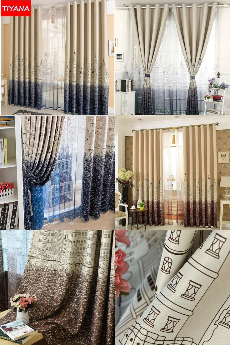 Inc faux silk blackout curtain set of 2 light pink hautelook -  Visit To Buy Customized Cartoon Blackout Curtains For Kids Bedroom Castle Curtain Tulle Blue