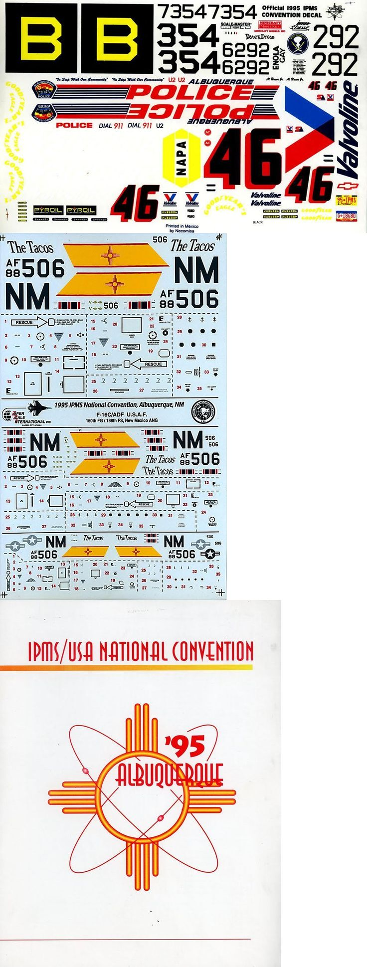 Decals 152933: Ipms Usa 1995 National Convention Albuquerque Decal Set B-29A, Enola Gay, 1 48 -> BUY IT NOW ONLY: $39.95 on eBay!