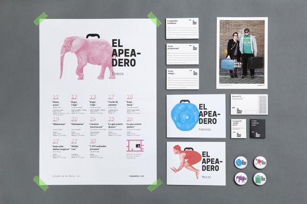 El apeadero by Colectivo Verbena , via Behance