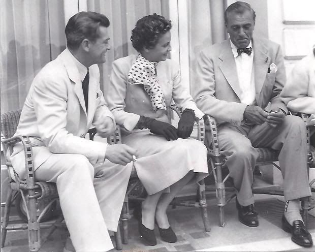 Gary with Jean Marais and Giselle Pascal in Cannes, France - 1953